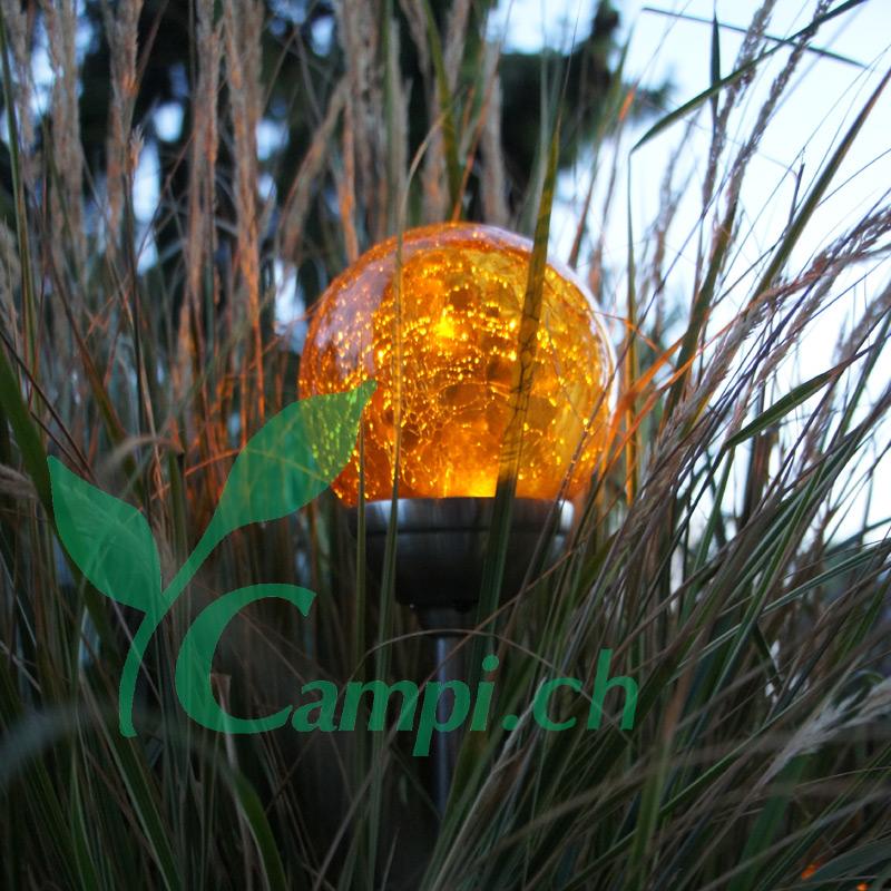 Solarlampe Crush amber D 12 x 45 cm #2