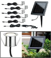 Solar Bodeneinbaulampen Inox Set à 5
