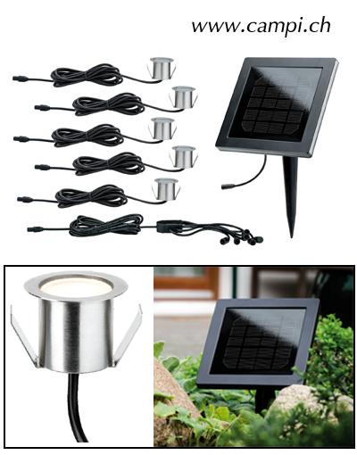 Solar Bodeneinbaulampen Inox Set à 5 #2