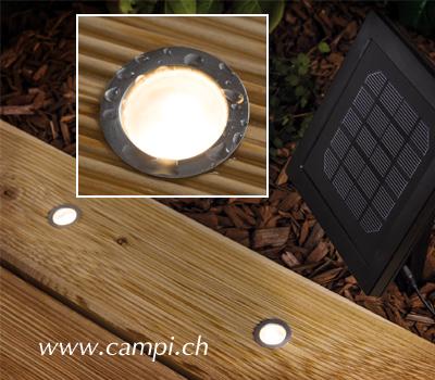 Solar Bodeneinbaulampen Inox Set à 5 #3