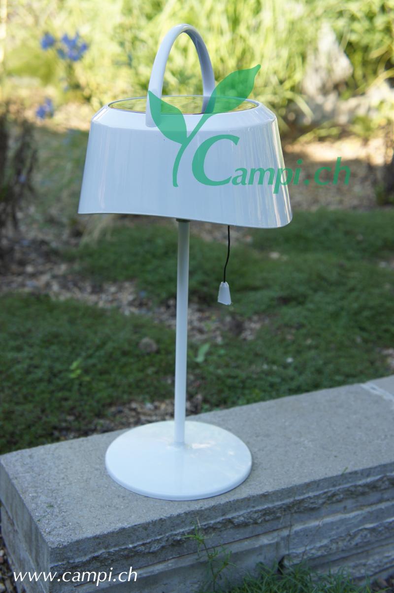 Solartischlampe retro weiss Ø16.5 x 36 cm