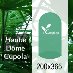 Palmenhaus-Haube ohne Gestänge D=2 m H=3,65 m (FV) #1