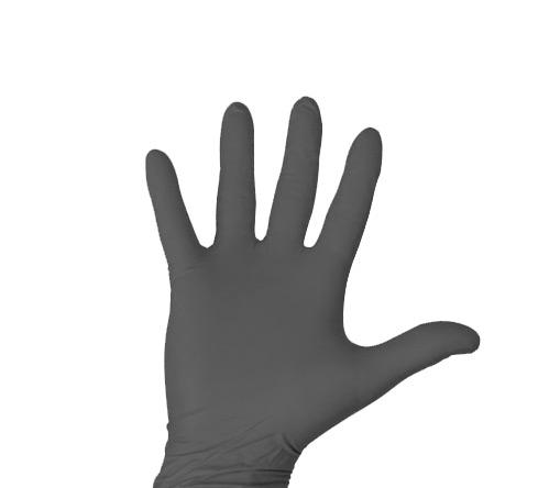 Einweghandschuhe Nitril puderfrei schwarz 100 Stk. Grösse L