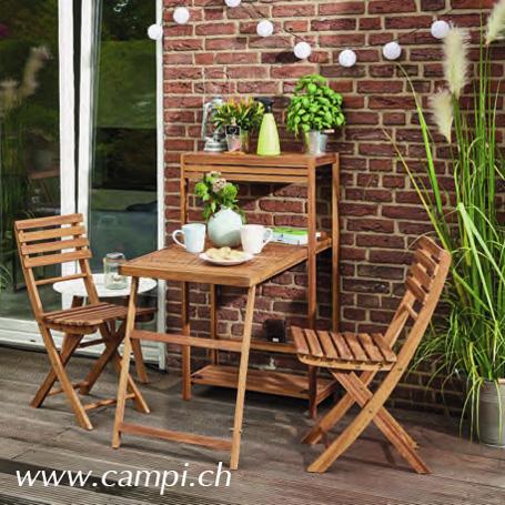 Gartenmöbelset Akazienholz natur geölt #1