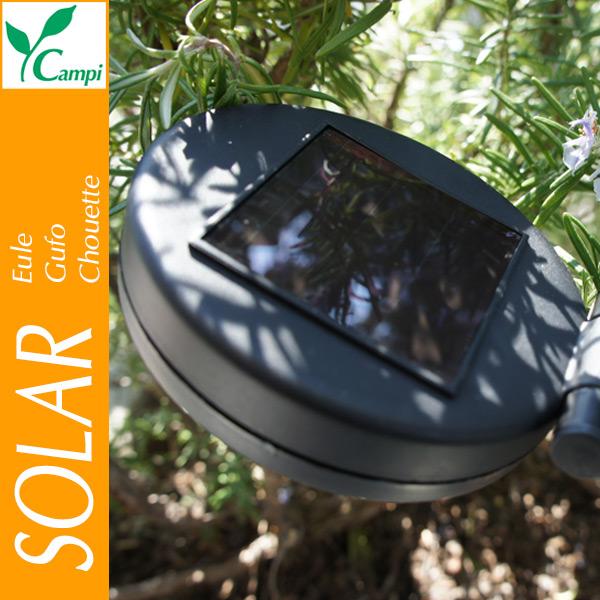Solar-Eule aus Glas auf Stab #3