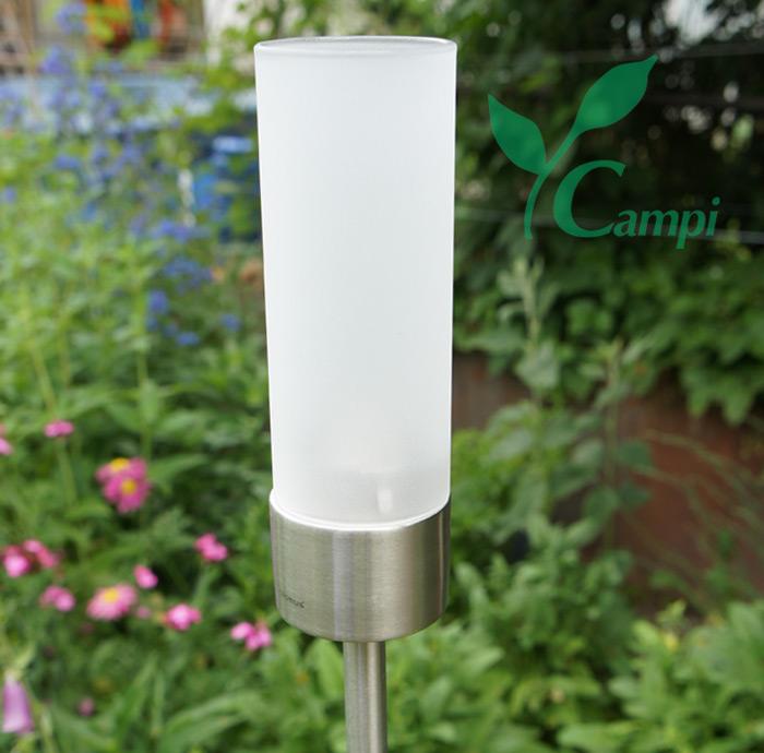 Gartenwindlicht Edelstahl & Glas #2