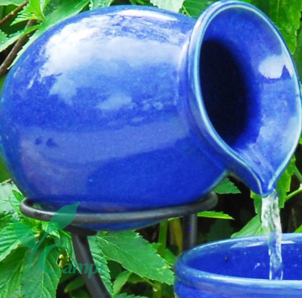 Krug Terracotta blau zu Kaskadenbrunnen
