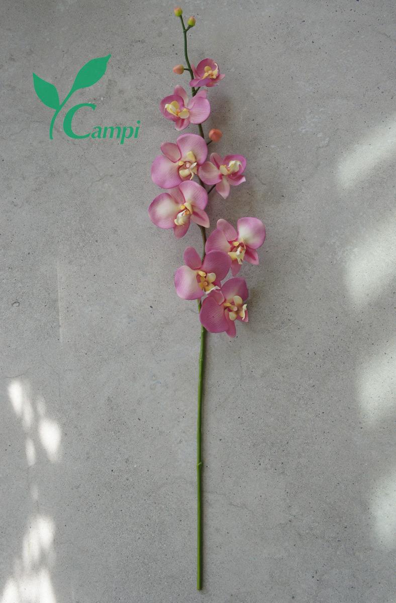 Künstliche Orchidee mit Latexblüten lila 14x78 cm