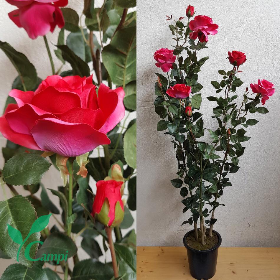 Künstlicher Rosenstrauch pink Ø60 150 cm