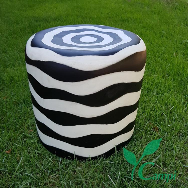 Leuchthocker Zebra Ø40x40 cm