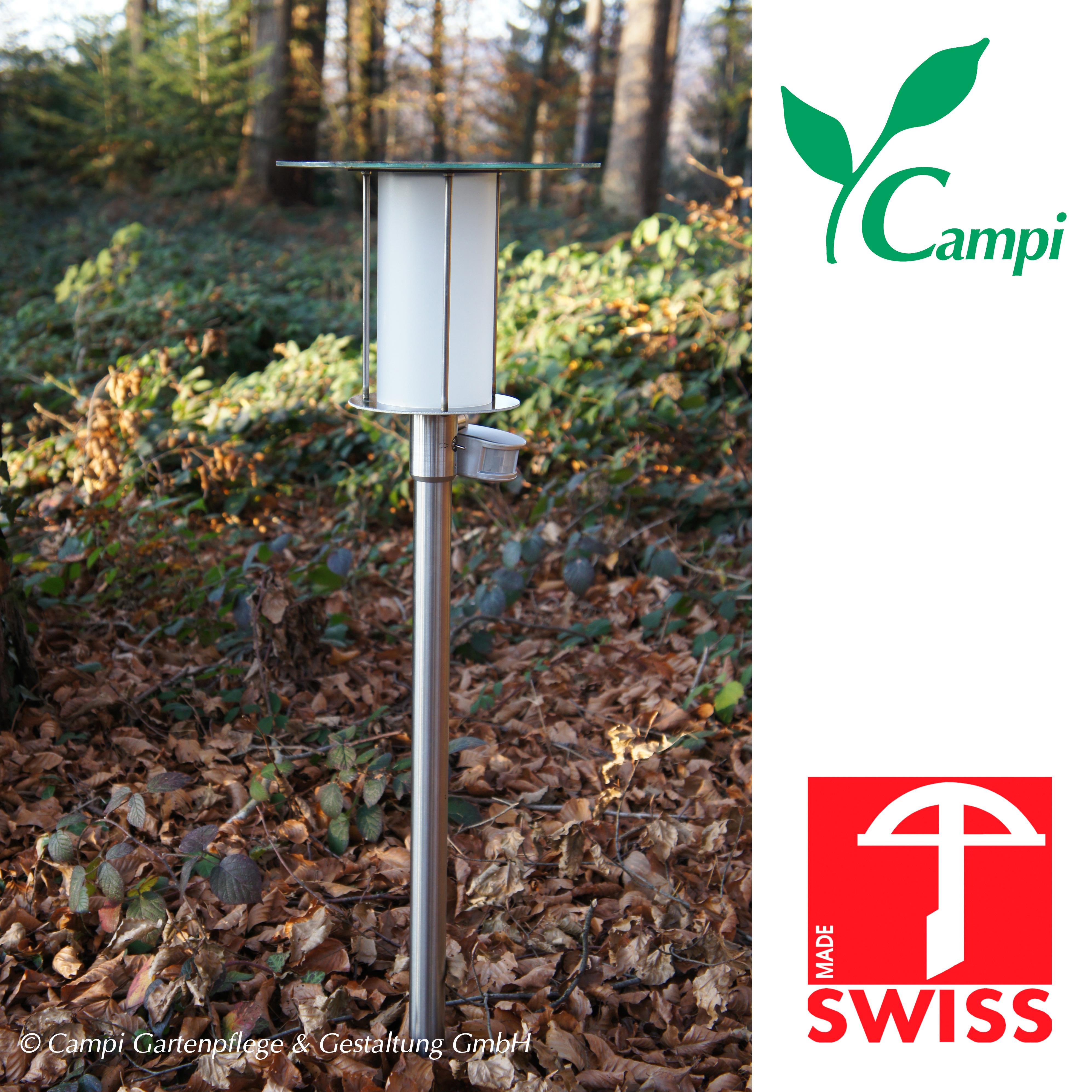 Solarlampe HI-POWER II mit Bewegungsmelder H=84cm