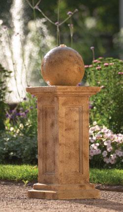 Mediterraner Gartenbrunnen mit Dura-Sand beschichtet #1