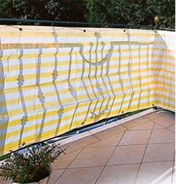 Balkonblende Profiline 5x0.9m weiss-gelb #2
