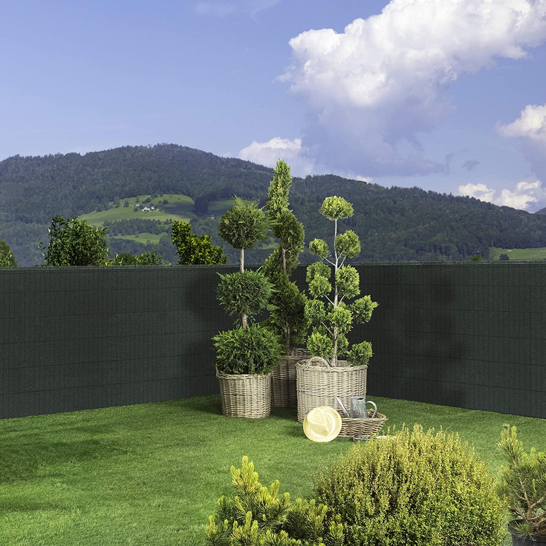 Zaunblende 5 x 1 m grün #4