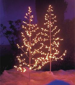 Lichterbaum weiss für aussen 150 cm mit 200 Lämpchen