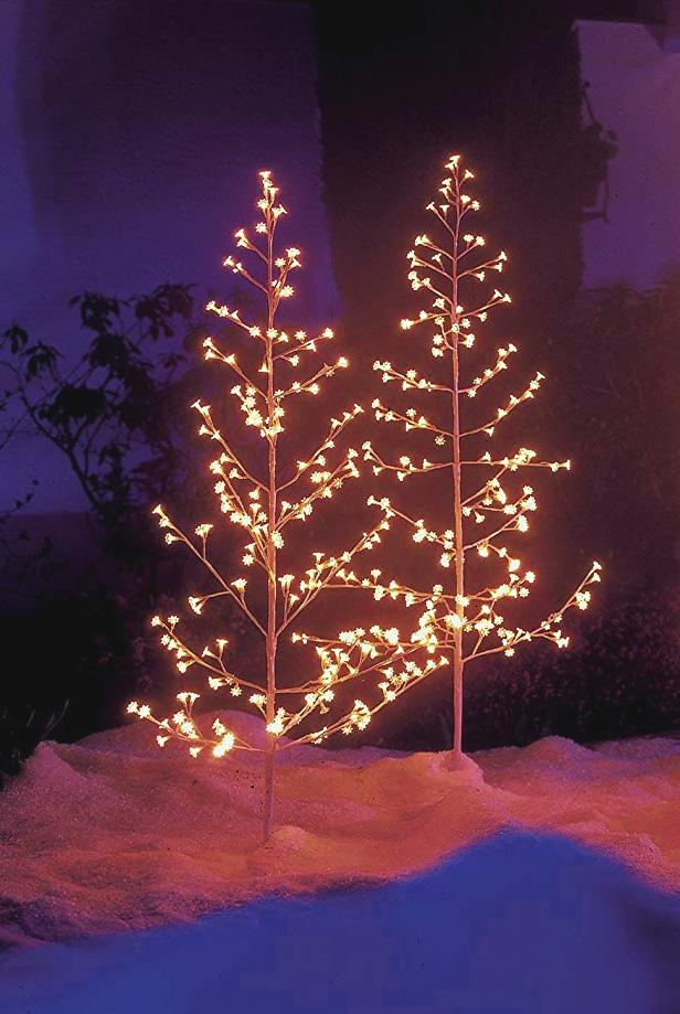 Lichterbaum weiss für aussen 150 cm mit 200 Lämpchen #3