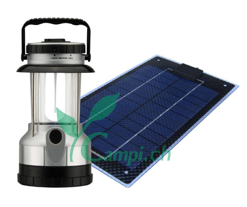 Solarlaterne und Solarmodul für unterwegs
