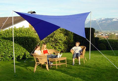 Sonnensegel 400 cm quadratisch - blau