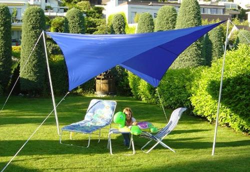 Sonnensegel 500 cm quadratisch - blau