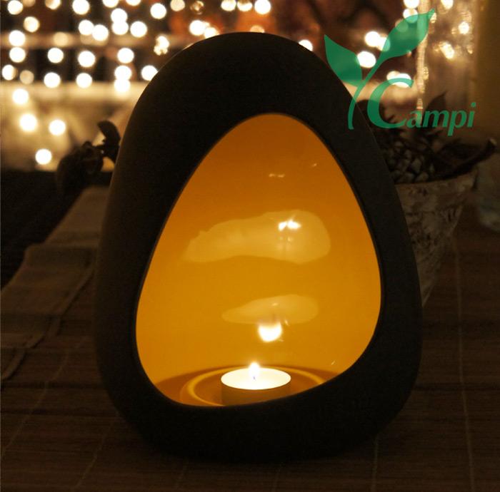 Magma Lampe (Domolit) gelb H=20 cm