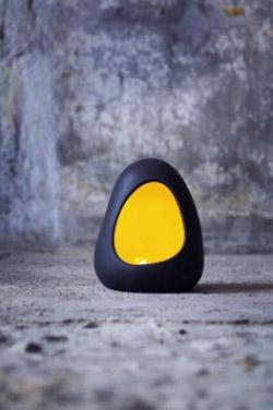 Magma Lampe (Domolit) gelb H=20 cm #3