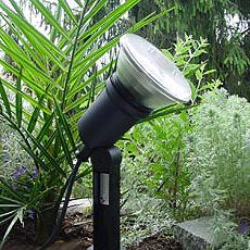 Gartenspot mit Erdspiess PAR38 schwarz