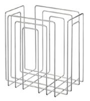 Zeitungs- und Papierstapler Chrom 37x27x37 cm