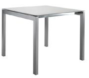 Fiberglastisch 80x80 cm H: 74.5 cm