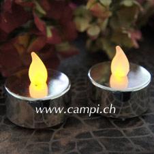 LED Teelichter-Set Chromlook rund #2