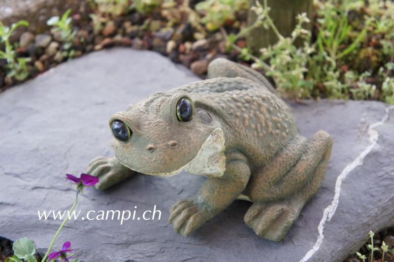 Frosch Gartenfigur L 14 x H 9 cm #2