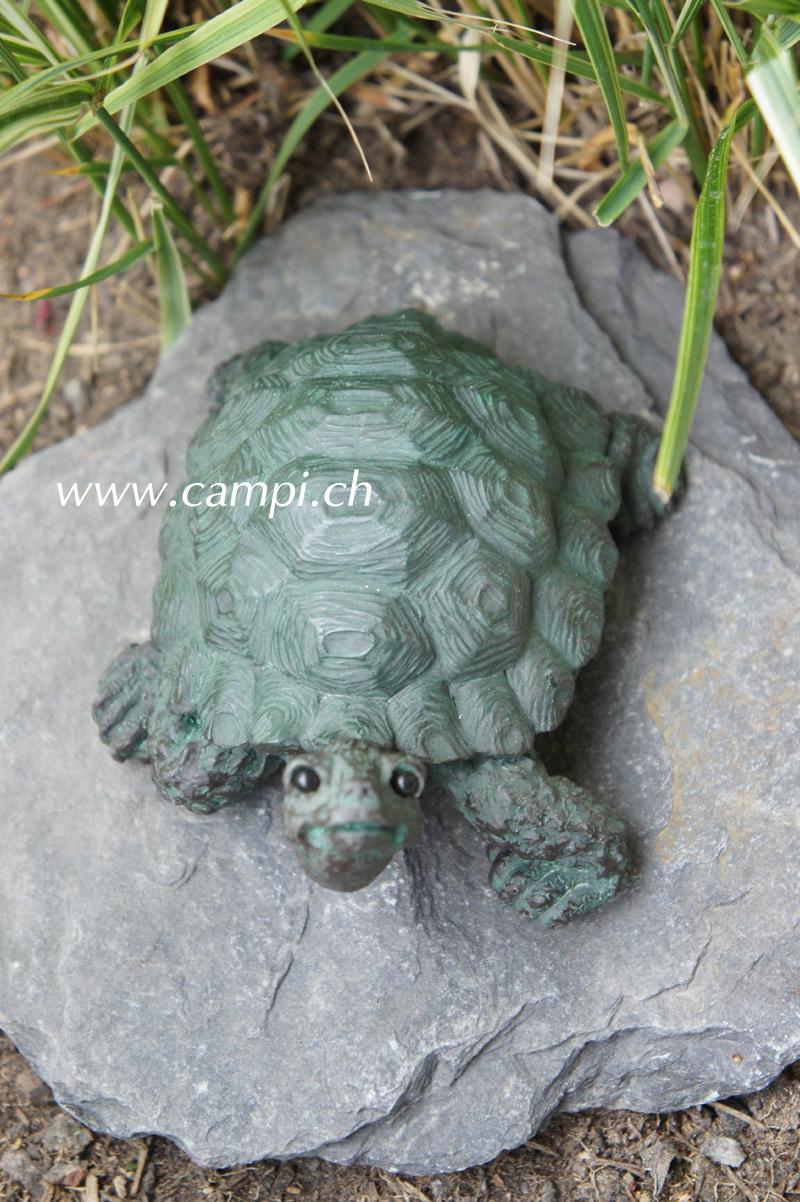 Schildkröten-Baby Gartenfigur 12x10x7 cm #3