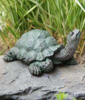 Schildkröten-Baby Gartenfigur 12x10x7 cm #1