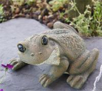 Frosch Gartenfigur L 14 x H 9 cm